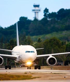 Free Stock Photo of Airplane Taxiing Ready For Takeoff