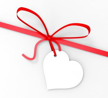 Free Stock Photo of Gift Tag Shows Greeting Card And Blank