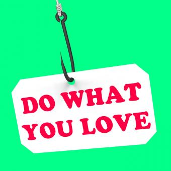 Free Stock Photo of Do What You Love On Hook Shows Inspiration And Motivation