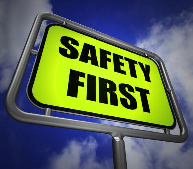 Free Stock Photo of Safety First Signpost Indicates Prevention Preparedness and Security