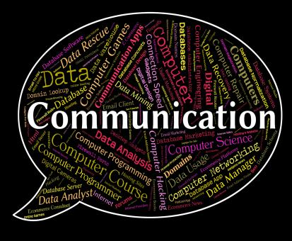 Free Stock Photo of Communication Word Indicates Debate Communicating And Chatting