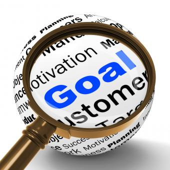 Free Stock Photo of Goal Magnifier Definition Shows Future Aims And Aspirations