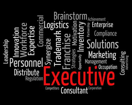 Free Stock Photo of Executive Word Indicates Director General And Chairwoman