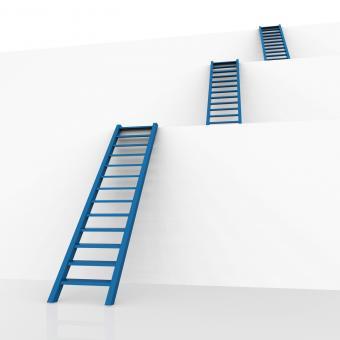 Free Stock Photo of Ladders Vision Represents Conquering Adversity And Aspire