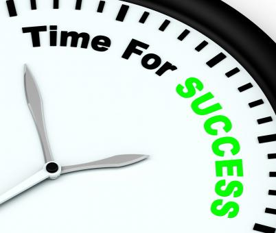 Free Stock Photo of Time For Success Message Showing Victory And Winning
