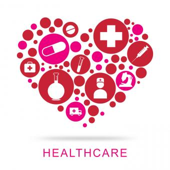 Free Stock Photo of Healthcare Icons Shows Preventive Medicine And Doctor