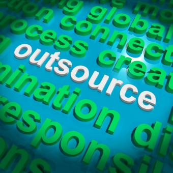 Free Stock Photo of Outsource Word Cloud Shows Subcontract And Freelance