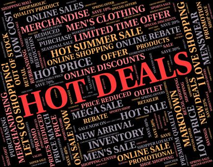 Free Stock Photo of Hot Deals Means Number One And Agreement