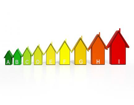 Free Stock Photo of Energy Efficiency Rating Houses Showing Eco Buildings
