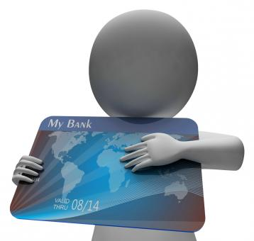 Free Stock Photo of Debit Card Indicates Buying Banking And Indebtedness 3d Rendering