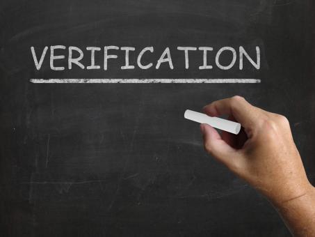 Free Stock Photo of Verification Blackboard Shows Proof Confirmation And Endorsement