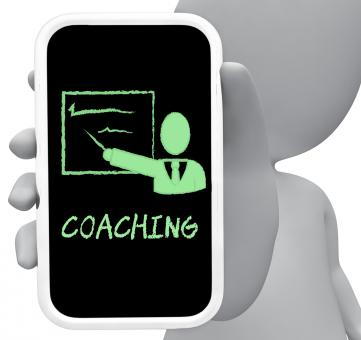 Free Stock Photo of Coaching Online Represents Mobile Phone And Cellphone 3d Rendering