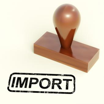 Free Stock Photo of Import Stamp Showing Importing Goods Or Products