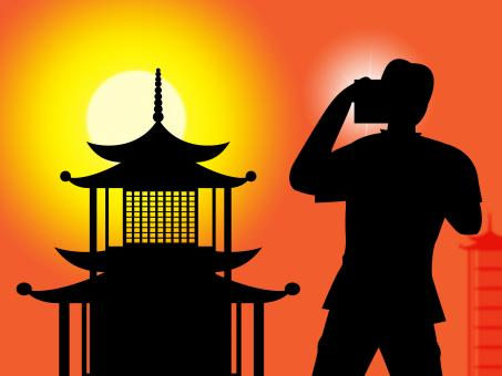 Free Stock Photo of Pagoda Photographer Indicates Orient Chinese And Photographers