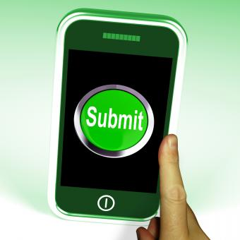 Free Stock Photo of Submit Smartphone Means Submitting On Entering Online