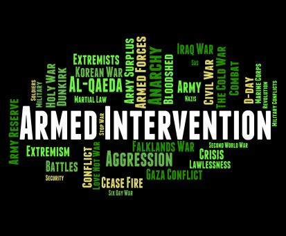 Free Stock Photo of Armed Intervention Represents Military Action And Arms
