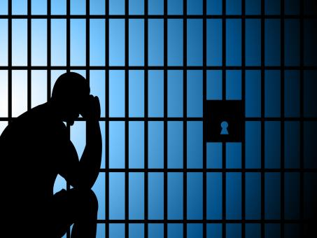 Free Stock Photo of Jail Copyspace Represents Take Into Custody And Arrest