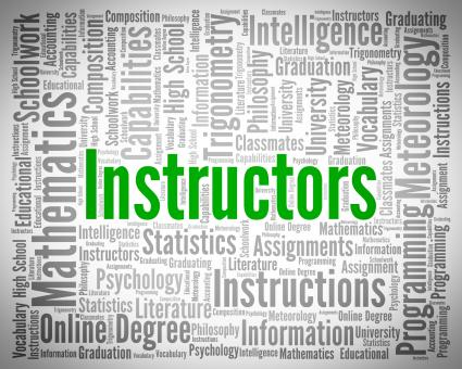 Free Stock Photo of Instructors Word Represents Give Lessons And Coaching