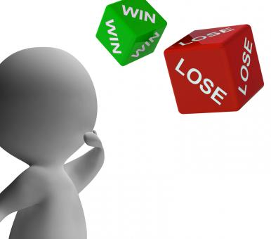 Free Stock Photo of Win Lose Dice Shows Gambling