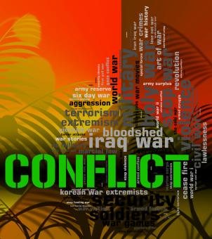 Free Stock Photo of Conflict Word Means Military Action And Armed