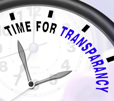 Free Stock Photo of Time For Transparency Message Showing Ethics And Fairness