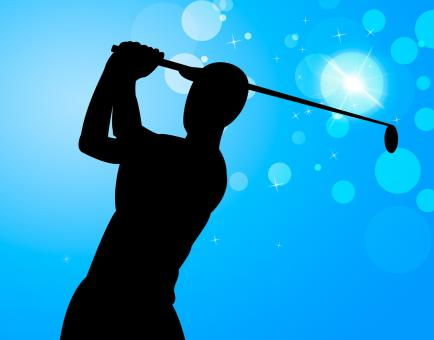 Free Stock Photo of Golf Swing Represents Golfer Exercise And Golf-Club
