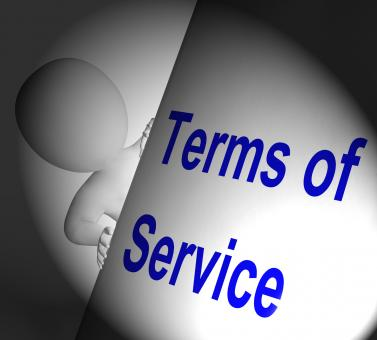 Free Stock Photo of Terms Of Service Sign Displays User And Provider Agreement