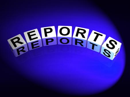 Free Stock Photo of Reports Dice Represent Reported Information or Articles