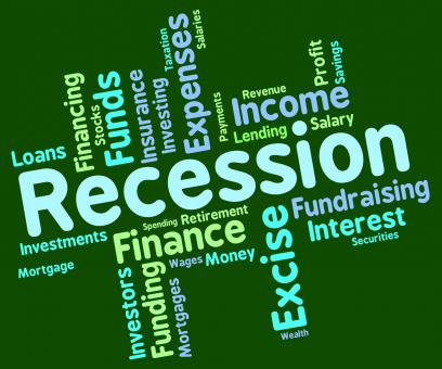 Free Stock Photo of Recession Word Represents Financial Crisis And Bankrupt