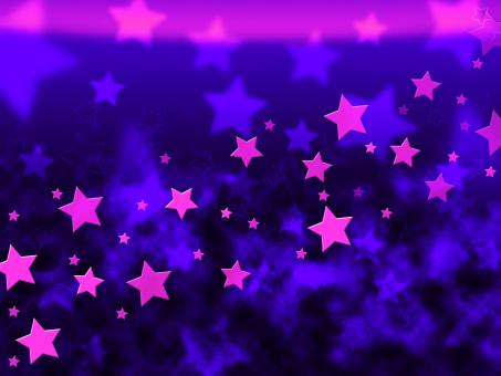 Free Stock Photo of Purple Stars Background Shows Celestial Light And Starry