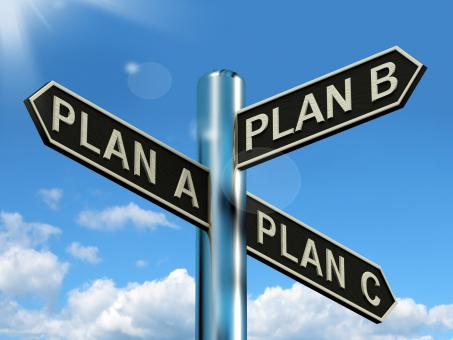 Free Stock Photo of Plan A B or C Choice Showing Strategy Change Or Dilemma