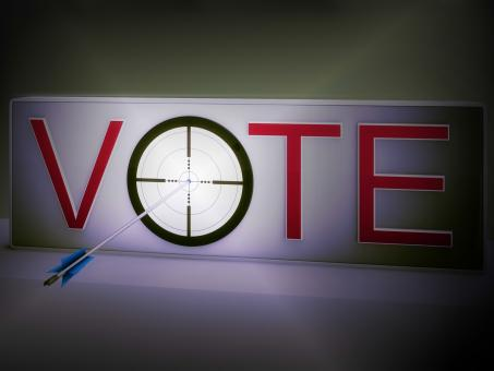 Free Stock Photo of Vote Target Means Evaluation Choice And Decision