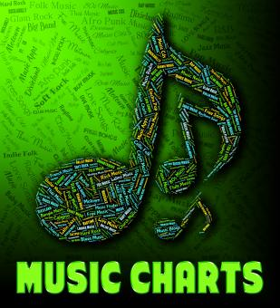Free Stock Photo of Chart Music Indicates Best Sellers And Albums