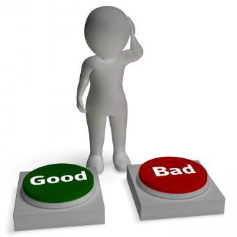 Free Stock Photo of Good Bad Buttons Shows Approve Or Reject