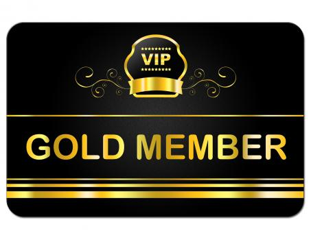 Free Stock Photo of Gold Member Shows Very Important Person And Card