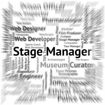 Free Stock Photo of Stage Manager Represents Live Event And Broadway