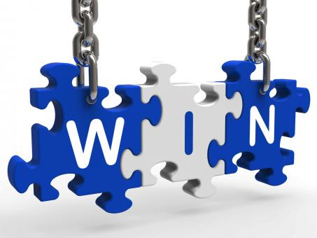Free Stock Photo of Win Sign Shows Success Winning And Victories