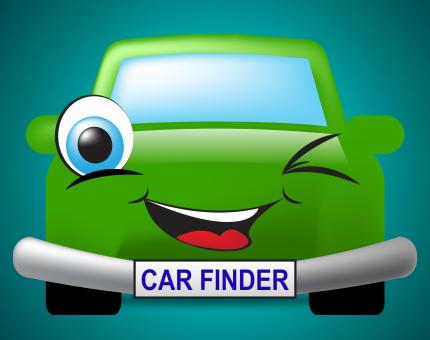 Free Stock Photo of Car Finder Shows Search For And Automobile