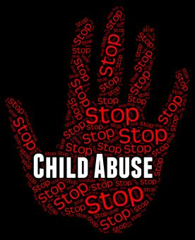 Free Stock Photo of Stop Child Abuse Represents No Childhood And Mistreat