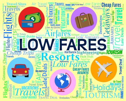 Free Stock Photo of Low Fares Indicates Reduction Costs And Travel