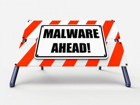 Free Stock Photo of Malware Ahead Refers to Malicious Danger for Computer Future