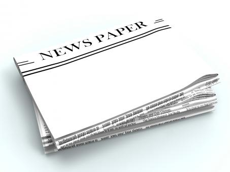 Free Stock Photo of Blank Newspaper With Copyspace Shows News Media Headline Space