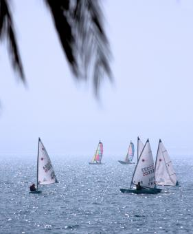 Free Stock Photo of Best Leisure Activity - Sailing Race On The Ocean