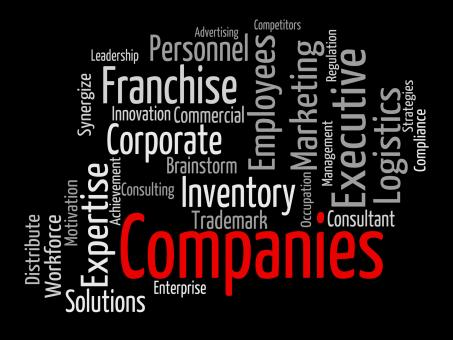 Free Stock Photo of Companies Word Indicates Corporations Wordcloud And Company