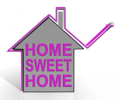 Free Stock Photo of Home Sweet Home House Means Homely And Comfortable