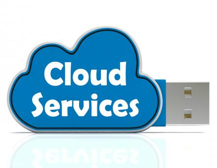 Free Stock Photo of Cloud Services Memory Stick Shows Internet File Backup And Sharing