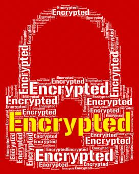 Free Stock Photo of Encrypted Word Shows Encrypting Protect And Cipher