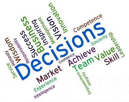 Free Stock Photo of Decision Words Indicates Choice Choices And Deciding