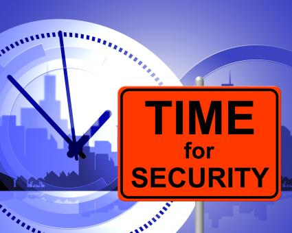 Free Stock Photo of Time For Security Represents At Present And Currently