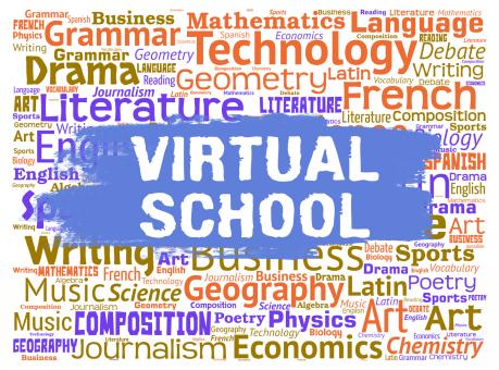 Free Stock Photo of Virtual School Represents Web Site Learning And Education